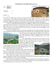 English Worksheet: CHINA�S TULOU �EARTH BUILDINGS� IN FUJIAN: TIMED READING