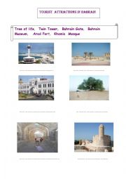 English Worksheets: Touristic Attractions in Bahrain