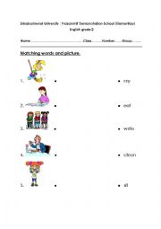 English Worksheets: what are you doing ?