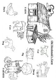 Esl kids worksheets old macdonald s farm for Old macdonald coloring pages