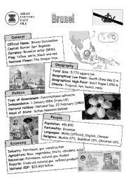 English Worksheet: ASEAN countries fact file - Brunei