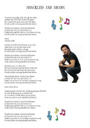 English Worksheets: SHACKLED AND DRAWN, Bruce Springsteen