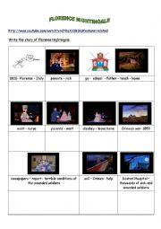 English Worksheets: Writing : Florence Nightingale