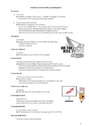 English Worksheets: Describing and analyzing tables/graphs/charts