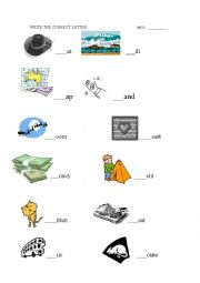 English Worksheets: complete words