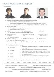 English Worksheet: Sherlock BBC Series The Hounds of Baskerville