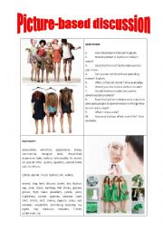 English Worksheet: Picture-based discussion fashion