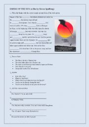 English Worksheets: Empire of the Sun (a film by Steven Spielberg)