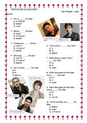 The Wanted – Gold Forever - Song and Video Clip activity / Preposition of place