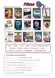 English Worksheet: Films