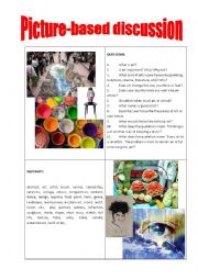 English Worksheet: Picture-based discussion art