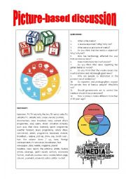 English Worksheet: Picture-based discussion media