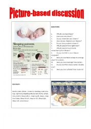 English Worksheet: Picture-based discussion sleep