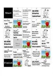 English Worksheet: present perfect vs present perfect progressive game