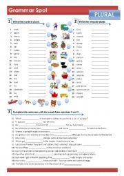 English Worksheet: REGULAR & IRREGULAR PLURAL OF NOUNS
