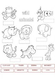 variety wild animal best blog wild animals worksheet esl. Black Bedroom Furniture Sets. Home Design Ideas