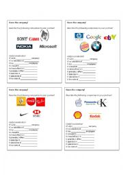 English Worksheets: Guess the company!