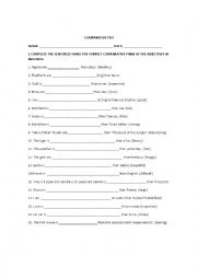English Worksheets: comarative