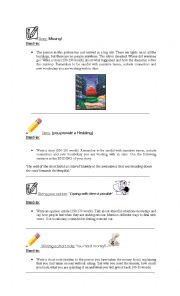 English Worksheet: Writing COMPOSITIONS ideas