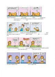 English Worksheet: Garfield 1 - Reported Speech