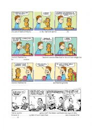 English Worksheet: Garfield 2 - reported speech