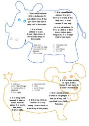 English Worksheet: Animals - riddles and idioms