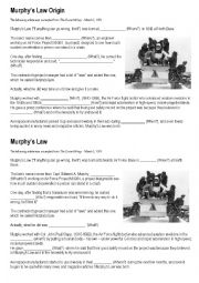 English Worksheets: Murphy´s Law