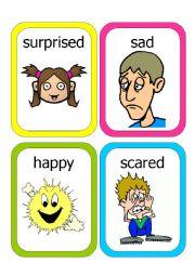 English Worksheet: Feelings Flash Cards #1