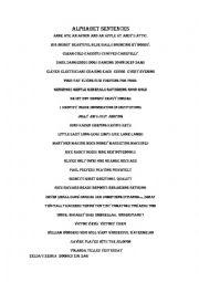 THE ALPHABET SENTENCES - ESL worksheet by Jorgemartinez1
