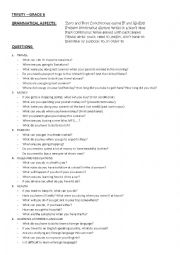 English Worksheets: Trinity Grade 6: QUESTIONS