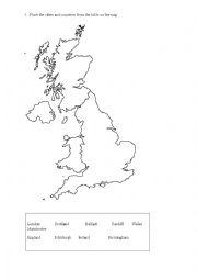 blank map uk worksheet. Black Bedroom Furniture Sets. Home Design Ideas