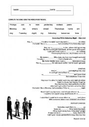 English Worksheet: Bon Jovi - Someday I�ll be Saturday night