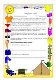 English Worksheets: Comprehension Practice