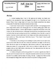 English Worksheets: Mock Bac 2008(the text with the reading comprehension)