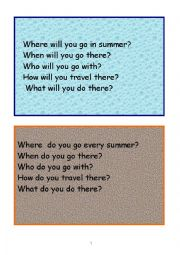 English Worksheets: Pair work speaking cards wh-questions