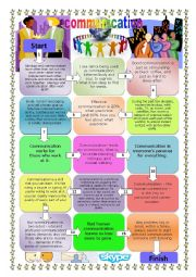English Worksheets: Boardgame: Communication