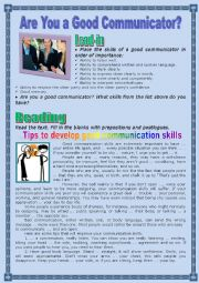 English Worksheet: Are You a Good Communicator?