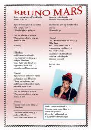 English Worksheet: Bruno Mars