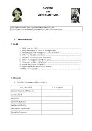 English Worksheet: Dickens and Victorian Times