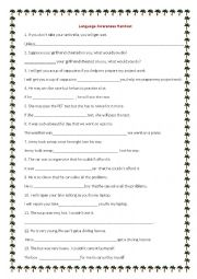 English Worksheet: Rewrite: if, so, such, too, enough, unless
