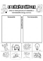English Worksheet: Energy Sources