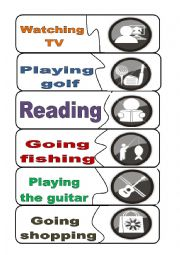 English Worksheets: FREE TIME ACTIVITIES  MATCHING