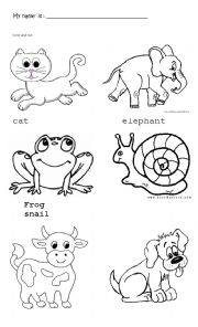 thumb205031835225781 Animals Worksheet To Colour on