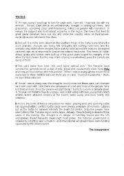 English Worksheets: end of termtest n°3 for 3rd year
