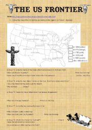 English Worksheet: US Frontier