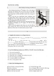 English Worksheet: Global test  6th form
