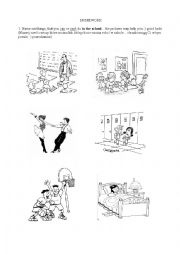 English worksheet: can/can´t worksheet