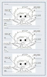 English Worksheets: face parts