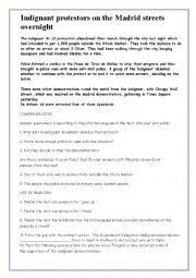 English Worksheets: INDIGNANT MOVEMENT