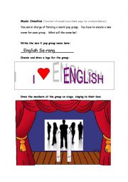English Worksheets: Create Your Own Musical Group